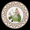 """Decorative tin plate """"The Personified flowers"""" The Rose"""