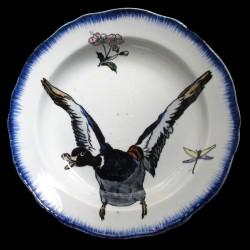 Bracquemond canard en vol assiette creuse