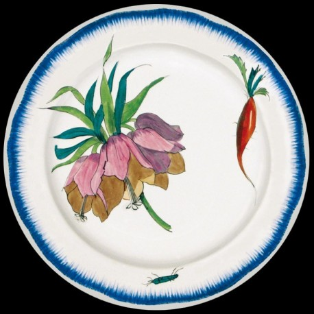 Bracquemond Fleur Assiette en tole