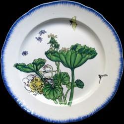 Bracquemond plat rond poussins diamètre 32 cm