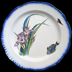 Bracquemond Iris et Poisson assiette