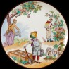 "Decorative tin plate ""The Reverse World"" Vegetable Garden"
