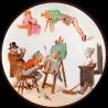 "Decorative tin plate ""The Reverse World"" Fine arts"