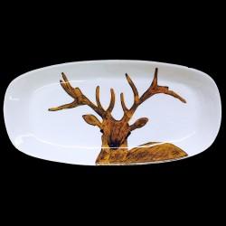 Deer long dish 46x23 cm