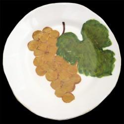 Raisin blanc Assiette calotte creuse D 23 cm