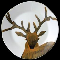 Cerf Assiette de table D 28 cm