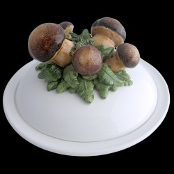 Wood mushroom - dish deep plate