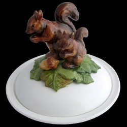Squirrels - dish deep plate with