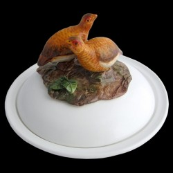 Partridges red - dish deep plate
