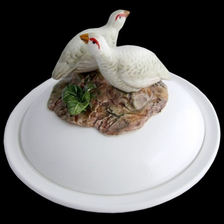 White partridges - dish deep plate