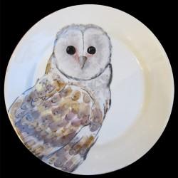 Hibou Assiette de table D 28 cm