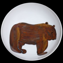 Bear big round deep dish D 38 cm