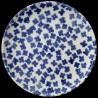 Majolica dessert plate blueflowers