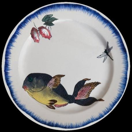 Bracquemond assiette poisson