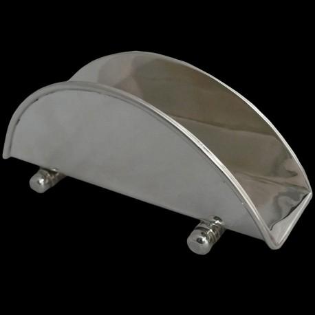 Porte serviettes en métal argenté 5,5 cm