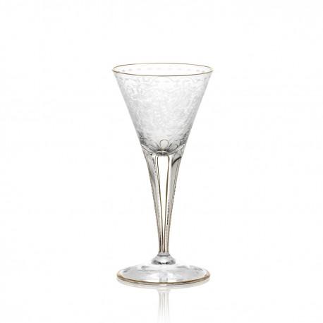 Verre à pied à eau en cristal 330 ml collection MAHARANI
