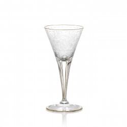 Verre à vin blanc en cristal gravé sans filet or 100 ml collection MAHARANI