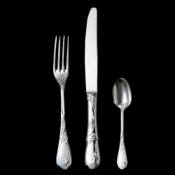 "Dinner fork ""Tulipe"" silverplated"