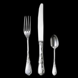 Fourchette de table Baguette métal argenté