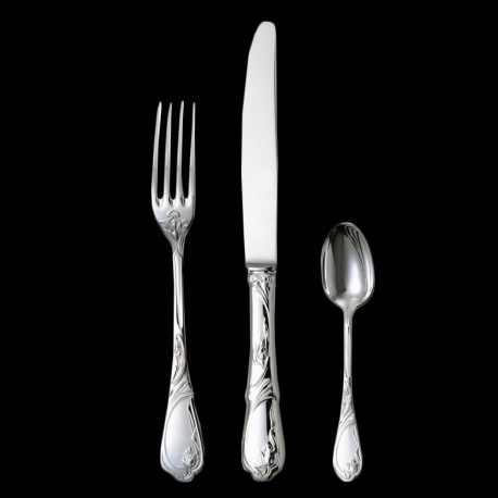 Fourchette de table Tulipe métal argenté