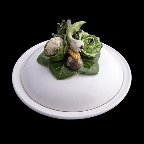 Vegetables Covered Soup Plate D 23 cm