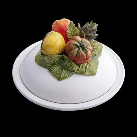 Snails Covered Soup Plate D 23 cm