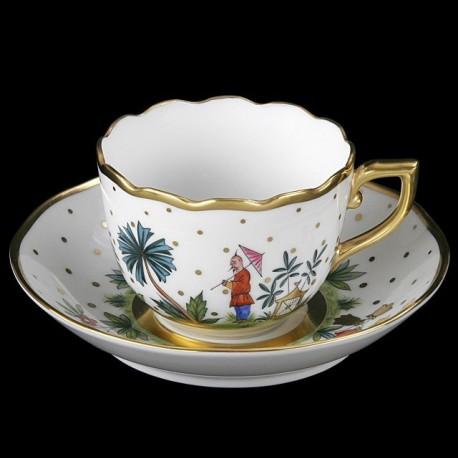Tasse et sous-tasse à café ou moka