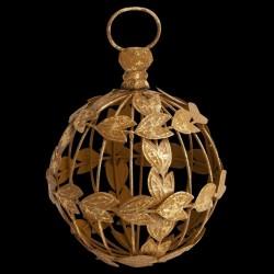 Boule de noël dorée D 11,5 cm