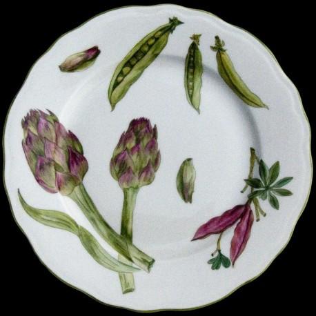 Assiette dessert légumes porcelaine de Limoges