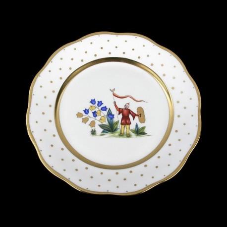 Classical plate of 26cm diameter/ character 5