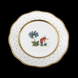 Classical plate of 26cm diameter/ character 6