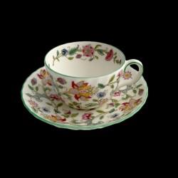 Tasse à thé et sous tasse Minton Haddon Hall
