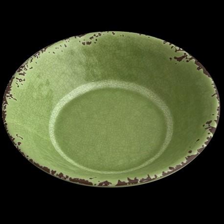 Assiette creuse melamine verte