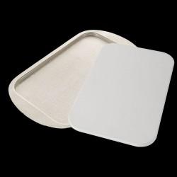 Plat avec planche à découper en corian