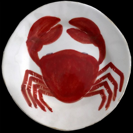 assiette salade Crabe D 23cm