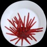 Majolica dinner plate sea urchin