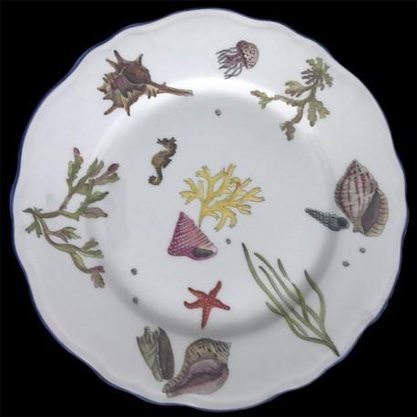 Limoges porcelain dinner plate fishes