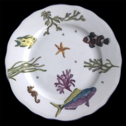 Limoges porcelain dessert plate fishes