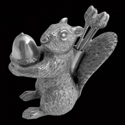 Pewter 6 picks set squirrel