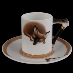 Royal Doulton service renard tasse café et sous tasse