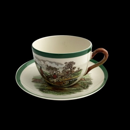 Copeland Herings scene chasse à courre tasse thé