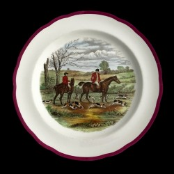 Copeland hunting scenes Herring assiette de table