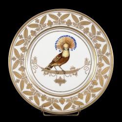 Moucherolle assiette style Sèvres porcelaine XXème