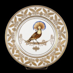 assiettes en porcelaine décor oiseau goût sèvres