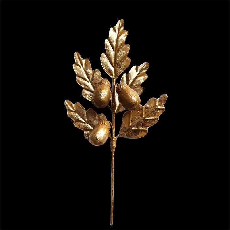 gilded oak leaves ornament au bain marie gilded oak leaves ornament