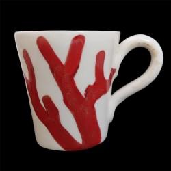 Mug faience Corail