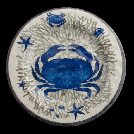 Assiette de table Crabe collection Ouessant