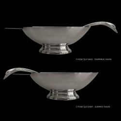Sauceboat swan edition Christofle Gallia design Fjerdinstad