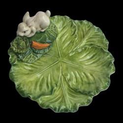 Petite assiette faïence choux Lapin