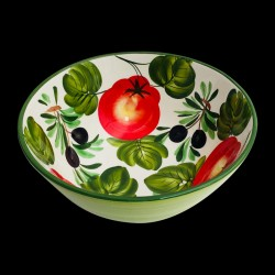 Majolica Olives & Tomatoes Salad Bowl size 2